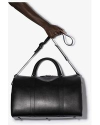 Canali Weekend Leather Holdall - Black