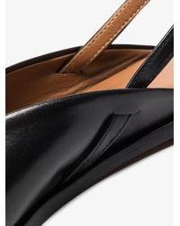 Atp Atelier Tressanti Leather Slingback Pumps - Black