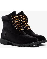 Off-White c/o Virgil Abloh - X Timberland Black Velvet Boots - Lyst