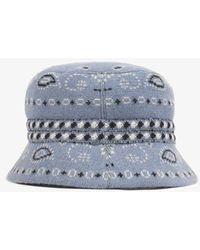 Alanui Blue Reseda Cashmere Bucket Hat