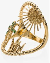 Yvonne Léon 18kt Gold Island Ring - Metallic
