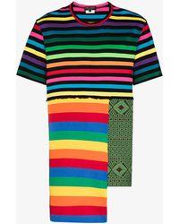 Comme des Garçons Rainbow Stripe Patchwork T-shirt - Multicolour