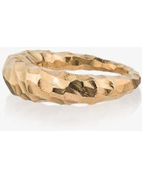 All_blues - Yellow Gold Curved Fat Snake Ring - Lyst