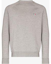 Maison Kitsuné Tricolour Fox Patch Sweatshirt - Gray