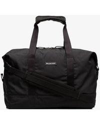Balenciaga - Black Embossed Explorer Gym Bag - Lyst