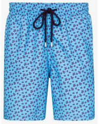 Vilebrequin Moorea Turtle Swim Shorts - Blue