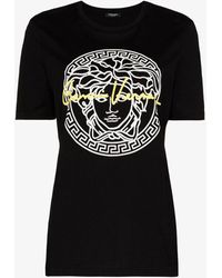 Versace Medusa Print T-shirt - Black