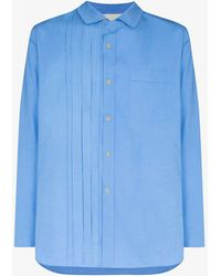 By Walid Tristan Cotton Poplin Shirt - Blue