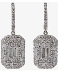 SHAY - Pave Baguette Drop Earrings - Lyst
