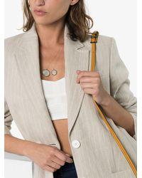 Sasha Samuel Lia Crystal-embellished Moon Locket Necklace - Metallic
