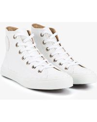 Chloé - 'kyle' Leather Hi-top Trainers - Lyst