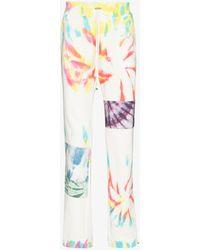 Amiri Tie-dye Cotton Track Trousers - White