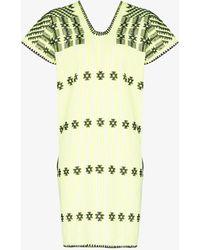 Pippa Holt No.263 Embroidered Kaftan Dress - Yellow