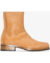 Our Legacy Brown Camion Textured Ankle Boots
