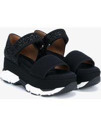 Marni - Glitter Platform Sandals - Lyst