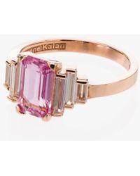 Suzanne Kalan 18kt Rose Gold Sapphire Diamond Ring - Multicolor