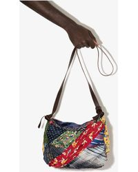 By Walid Multicolou Joyce Patchwork Messenger Bag - - Silk/cotton - Red