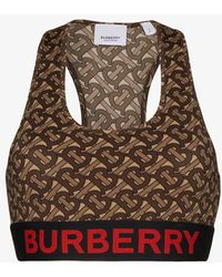 Burberry Monogram Print Cropped Top - Brown
