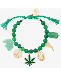 Venessa Arizaga - Green Multi Charm Bracelet - Lyst