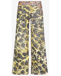 Chopova Lowena Ebrulee Straight Leg Jeans - Brown