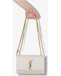 Saint Laurent White Kate Small Leather Shoulder Bag