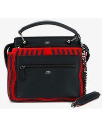 bd3bcb5abf6c Fendi Small Square Eyes Dotcom Click Bag in Black - Lyst