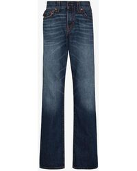 True Religion Ricky Straight Mid Wash Jeans - Blue