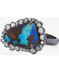 Kimberly Mcdonald | 18k White Gold And Opal Ring | Lyst