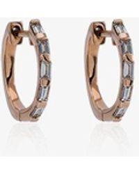 SHAY Mini Baguette Diamond Earrings - Metallic