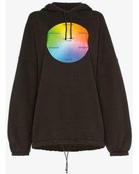 Balenciaga - Seasonal Ego Print Hooded Sweatshirt - Lyst
