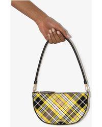 Burberry Olympia Mini Tartan Shoulder Bag - Yellow