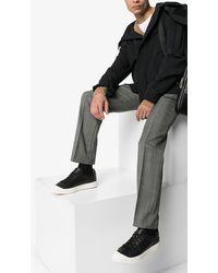 Santoni Contrast Toe Lace-up Trainers - Black