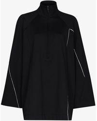 Y-3 Half-zip Oversized Jacket - Black