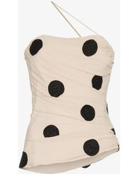 Jacquemus - Polka Dot Embroidered Top - Lyst