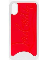 Christian Louboutin - Red And White Logo Iphone X Case - Lyst