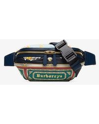 Burberry - Green Sonny Medium Printed Leather Belt Bag - Lyst