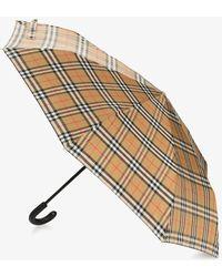 Burberry - Brown Vintage Check Umbrella - Lyst