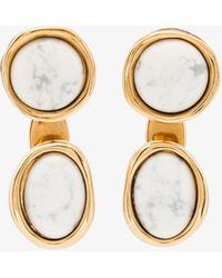 Loewe Tone Double Tree Marble Earrings - Metallic