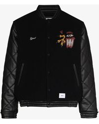 WTAPS Canal Mosser Wool Bomber Jacket - Black