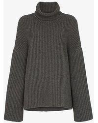 Nanushka - Raw Ribbed Knitted Turtleneck Jumper - Lyst