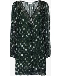 Cloe Cassandro Lea Spot Print Dress - Green