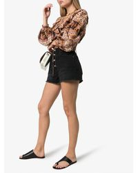 Atp Atelier 'rosa' Cutout Leather Slide Sandals - Black