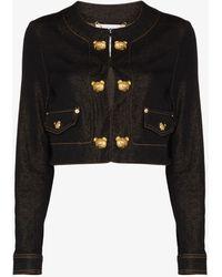 Moschino Teddy Bear Button Denim Jacket - Black
