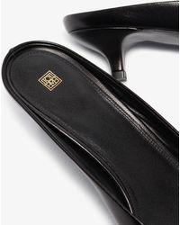 Totême 35 Square Toe Leather Mules - Black