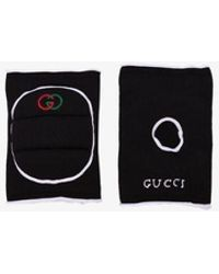 Gucci Womens Black Logo Embroidered Knee Pads