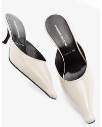 Kwaidan Editions 65 Pointed Leather Mules - White