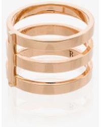 Repossi 18k Rose Gold Berbere Triple Row Ring - Pink