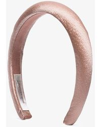 Jennifer Behr Thada Hammered Headband - Brown