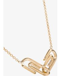Lizzie Mandler 16kt Gold Paperclip Pendant Necklace - Metallic