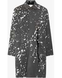 Song For The Mute Ghosts Splatter Print Chore Coat - Gray